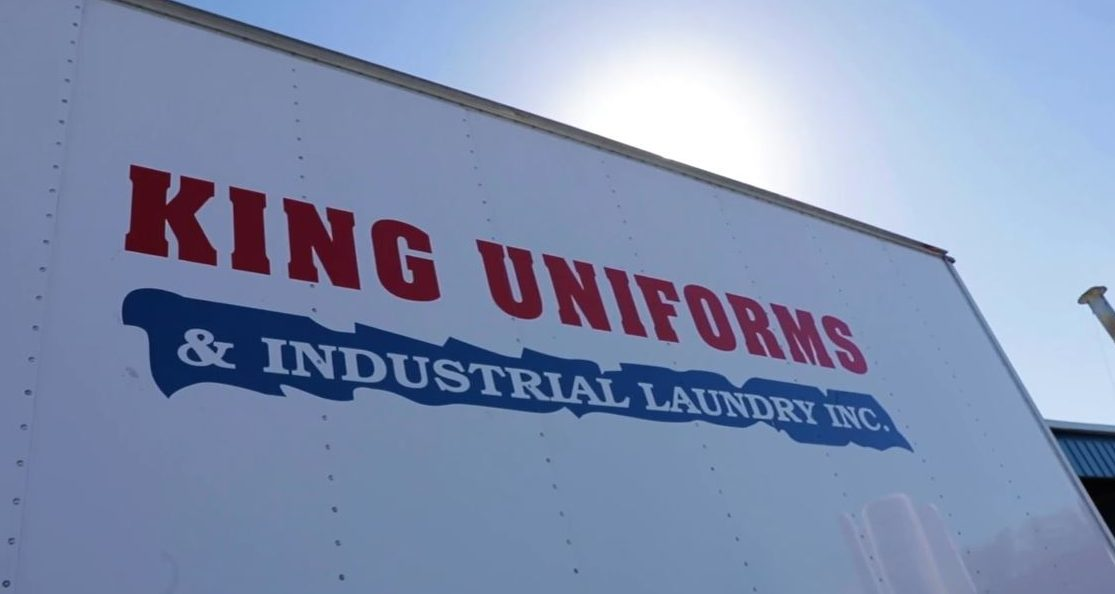 King Uniforms name and logo